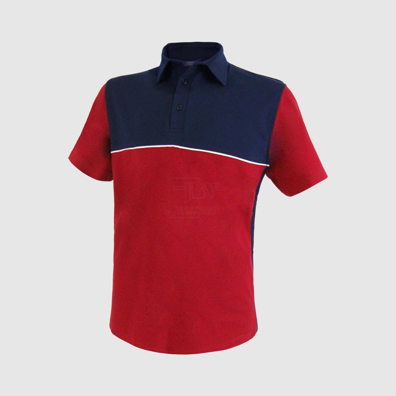 Camisa de hombres de color combinado de cuello en contraste