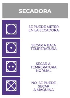 Símbolos secadora