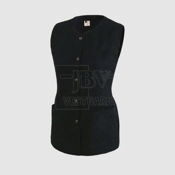 Chaqueta negra para mujer sin mangas