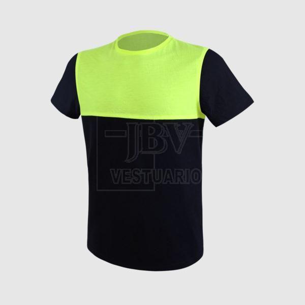 Camiseta pecho amarillo fluor