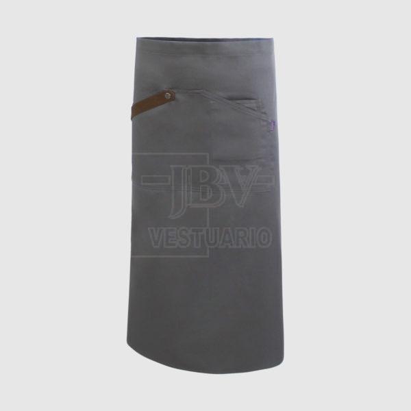 Delantal gris 80 cm