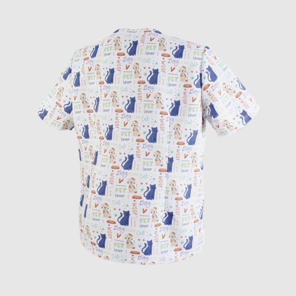camisola veterinario espalda
